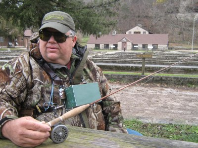 Winter fishing roaring river state park with tim holesley for Mighty mite fishing rod